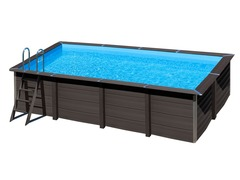 Piscine bois composite hors sol for Obi intex pool